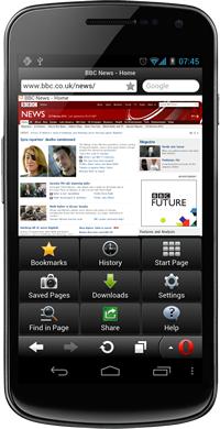 Opera Mini 7 llega a Android con aceleración por hardware y soporte NFC