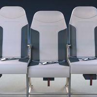 Se ha autorizado un nuevo diseño para el asiento del medio en los aviones que nos promete más comodidad y embarques más rápidos