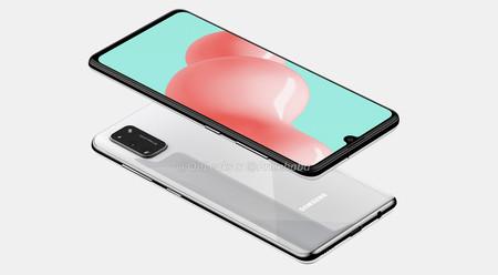 El Samsung Galaxy A41 se deja ver mostrando su triple cámara trasera y su pantalla Infinity-U