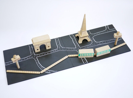 ciudad minimalista de juguete - paris