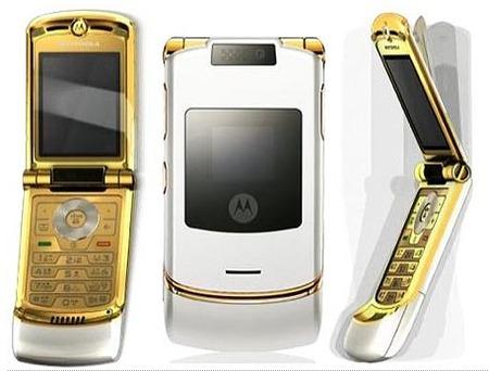El Motorola RAZR, de oro