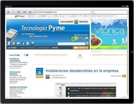 Visualiza la web de tu empresa en el iPad