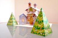 Árboles de Navidad para imprimir y recortar con múltiples usos