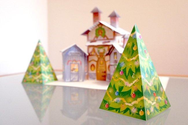 Arboles de Navidad para imprimir y montar