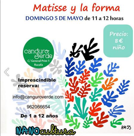 Taller didáctico para niños hasta 12 años en Valencia: 'descubre al pintor, Matisse y la forma'