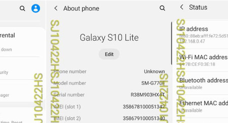 El Samsung Galaxy S10 Lite pasa por la FCC, mostrando su pantalla y dimensiones