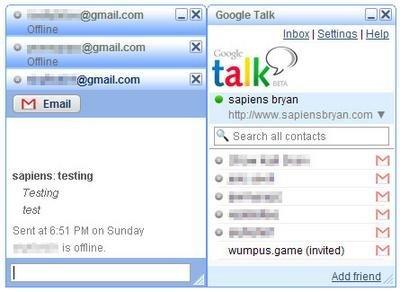Temas visuales para Google Talk