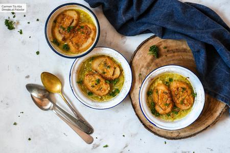 Sopa De Cebolla Dulce Con Queso Stilton