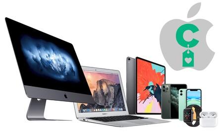 Los mejores precios para iPhone, iPad, AirPods, Mac, Apple Watch, o AirPods los tienes aquí, en nuestras ofertas de la semana en dispositivos Apple