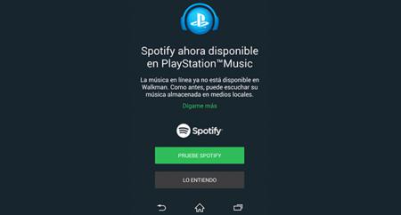 Spotify llega a los dispositivos Sony, después del fin de Music Unlimited