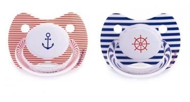 Chupetes para pequeños marineros, muy veraniegos
