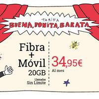 Lowi recupera en enero su combinado de fibra a 100 Mbps y móvil con 20 GB por 34,95 euros