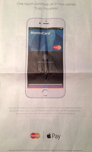 Anuncio Apple Pay y Mastercard