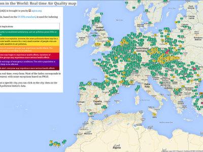 ¿Cuales crees que son los países más contaminados del mundo? WAQI te lo muestra en tiempo real
