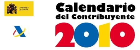 Calendario del contribuyente 2010 de la Agencia Tributaria