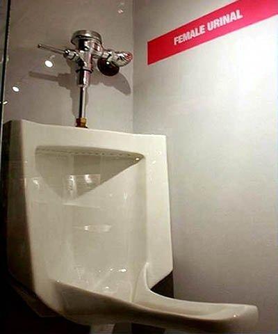 Urinario femenino para hacerlo de pie