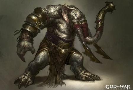Éste es el Elefantauro, uno de los nuevos monstruos del 'God of War: Ascension'. Varios diseños para levantar el apetito