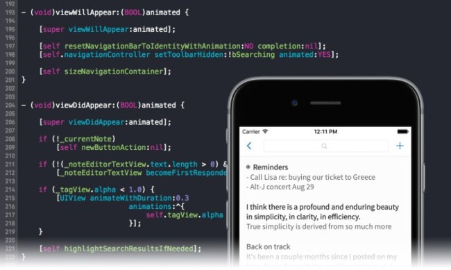 Simplenote, uno de los blocs de notas más simples para iOS, abre su código fuente