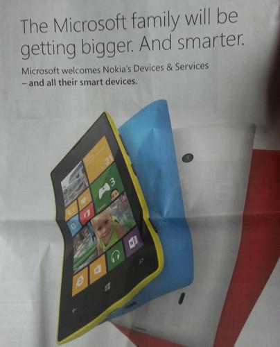 Microsoft elimina el logo de Nokia en anuncios donde informa sobre la compra