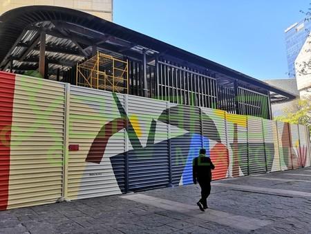 Esta es la segunda Apple Store de México, en construcción dentro de su capital