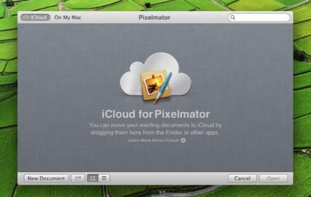 Pixelmator 2.1 se adapta a iCloud al estilo de iWork y a las pantallas retina de OS X