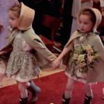 Las botas Hunter, el detalle ideal del look de ceremonia de las niñas de arras de la boda de María Pombo