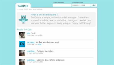 Twit2do, lista de tareas para Twitter