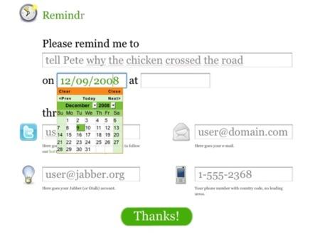 Remindr, recordatorios online  por diferentes vías de forma simultánea