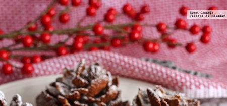 Piñas navideñas de chocolate y cereal. Receta de postre