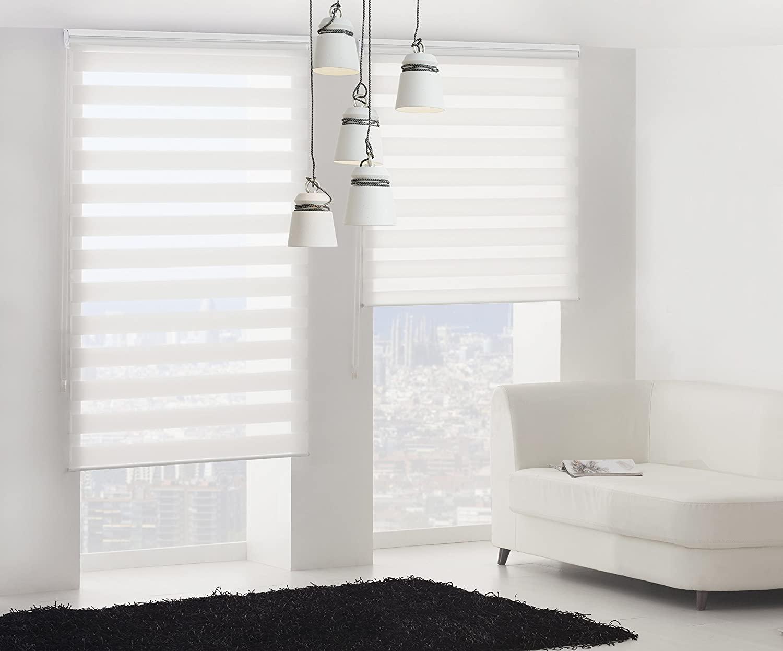 Blindecor LIRA - Estor enrollable de doble capa Noche y Día.