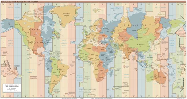 Standard World Time Zones