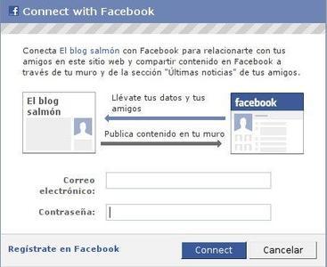 Entra en El Blog Salmón con tu cuenta de Facebook