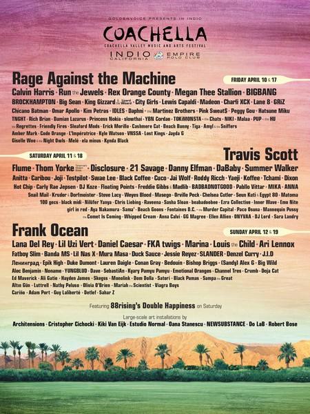 Coachella 2020 Cartel