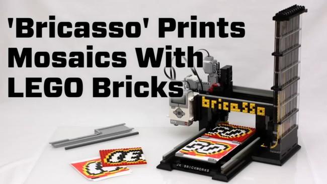 Bricasso: imprimiendo mosaicos con piezas LEGO