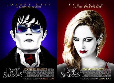 'Sombras Tenebrosas' de Tim Burton, carteles de los personajes