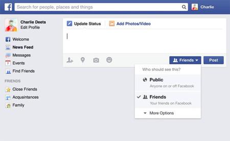 Facebook incrementa la privacidad predeterminada en nuevos usuarios, sólo amigos verán publicaciones