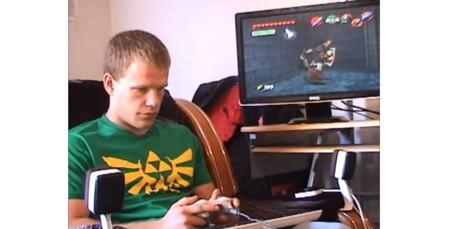 Este muchacho ha completado Ocarina of Time en 5 años siendo invidente