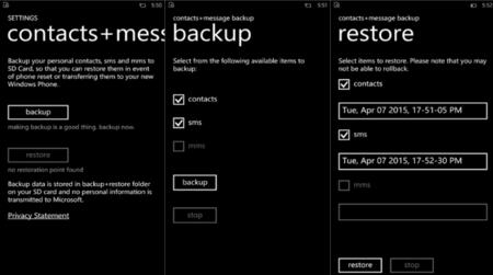 Microsoft lanza contacts+message backup, una app para respaldar contactos y mensajes en la tarjeta SD