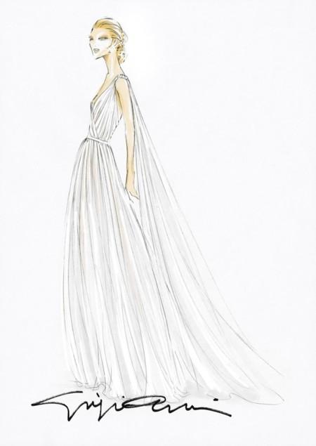 Beatrice Borromeo Armani Wedding Sketch
