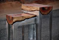 La orgánica e industrial colección de muebles auxiliares de Hilla Shamia