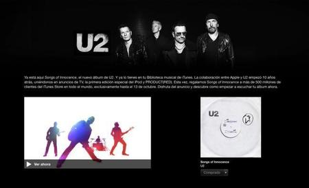 U2 o el spam según lo entiende Apple