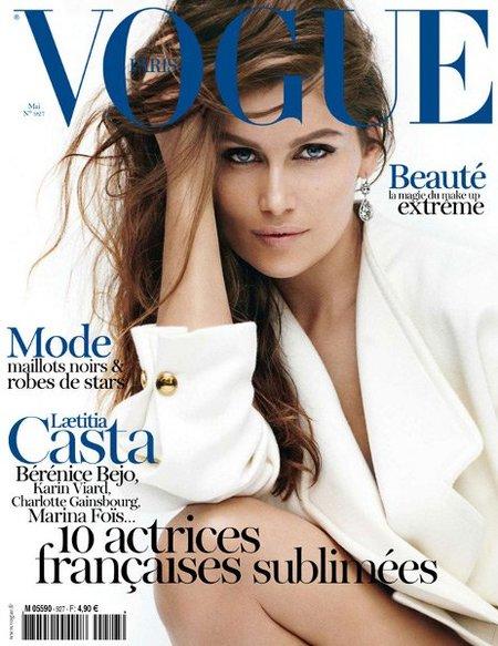 Laetitia Casta resucita el espíritu de los 90 en la portada de Vogue Paris