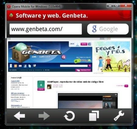 Opera lanza un emulador de escritorio de Opera Mobile 10
