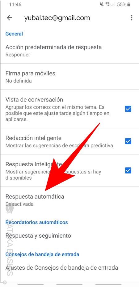 Respuesta Automatica App