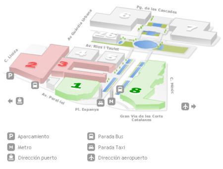 Salón de Ocasión - Auto Retro Barcelona - Plano Fira de Barcelona Montjuïc