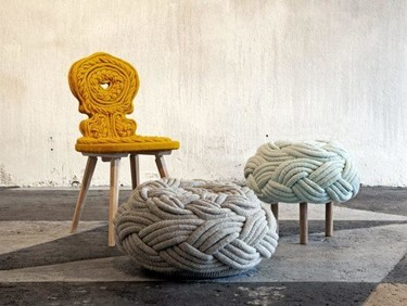Cuando el knitting se convierte en alta decoración: Claire-Anne O´Brien