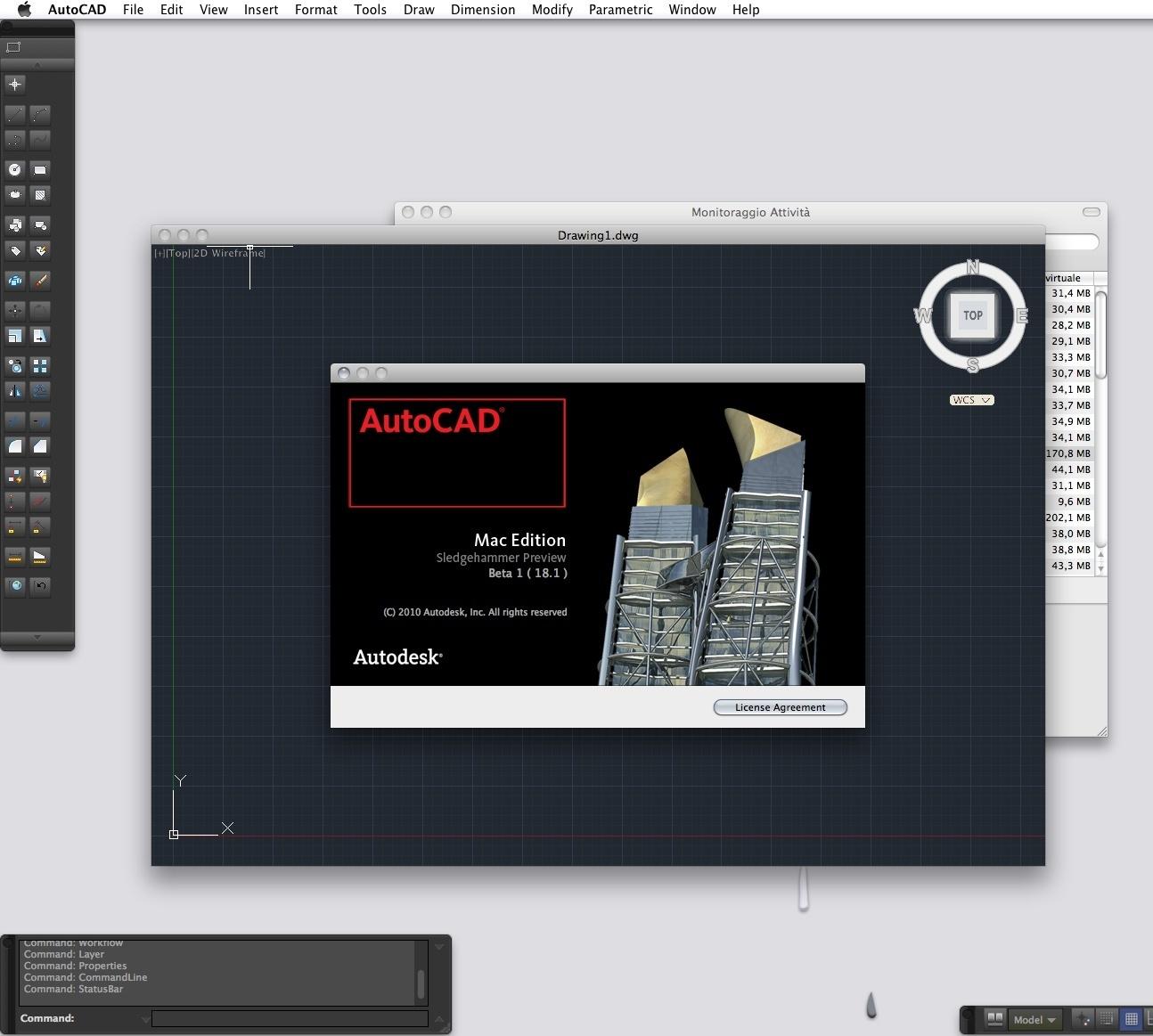 "Autocad beta1 ""Sledgehammer"" para Mac"
