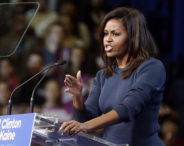 El discurso de Michelle Obama que representa lo que pensamos las mujeres sobre el vídeo de Donald Trump