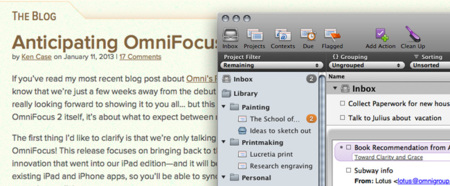Omnifocus para Mac con licencia gratuita de forma temporal
