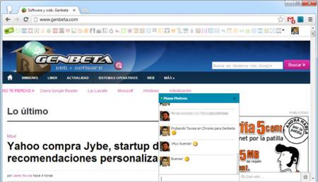 Tawea, chatea con tus amigos de Facebook en cualquier Web desde Chrome